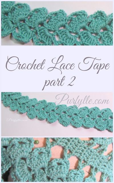 Simple Crochet Lace Tape Crochet Insertion Edgings Tapes