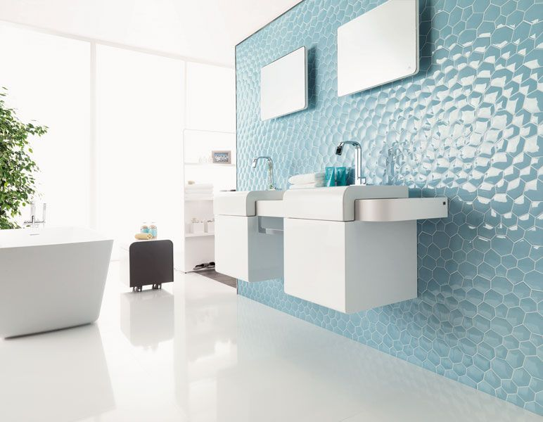 Un Carrelage Effet Garanti Pour Vos Murs Inspiration Bain Carrelage De Salle De Bains Moderne Salle De Bains Moderne Salle De Bain Design