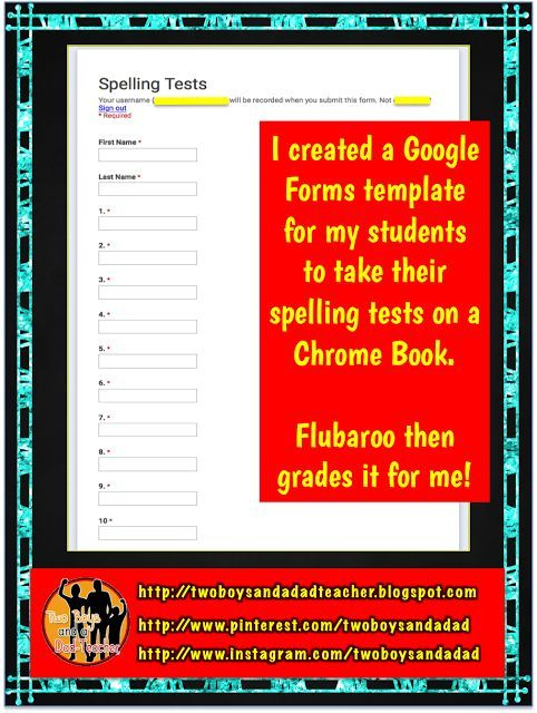 How to Give a Spelling Test Using Google Forms Tired, Teacher and - spreadsheet google form