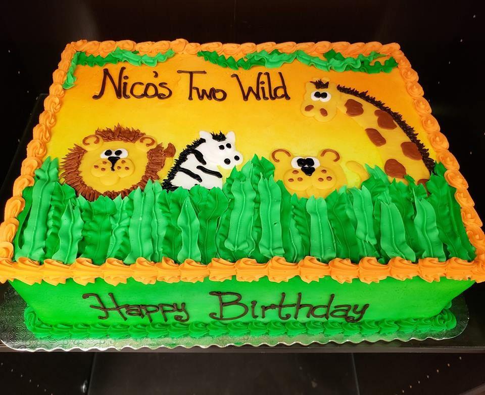 Nicos two wild birthday cake 2nd birthday party themes