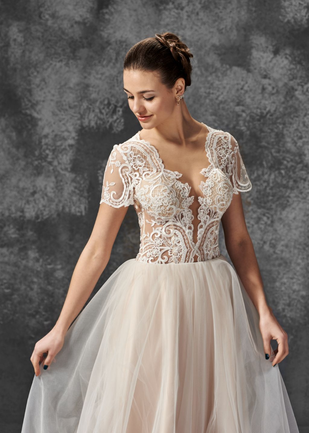 Wedding dress gloriya boho wedding dress lace wedding dress