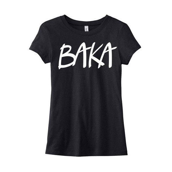 Baka Anime T-Shirt Ladies Anime Shirt Japanese Phrase Kawaii Tee Otaku.