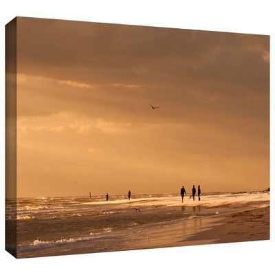 "ArtWall 'Walkers Siesta Key' by Lindsey Janich Photographic Print on Wrapped Canvas Size: 8"" H 12"" W"