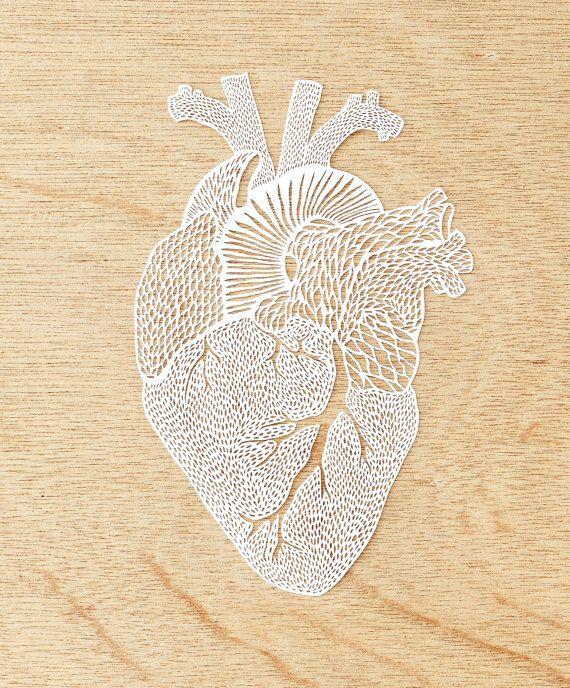 Hand-Cut Papercutting Artwork Anatomical Heart by lightpaper ...