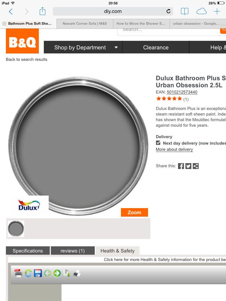 Dark Grey Bathroom Paint Urban Obsession By Dulux