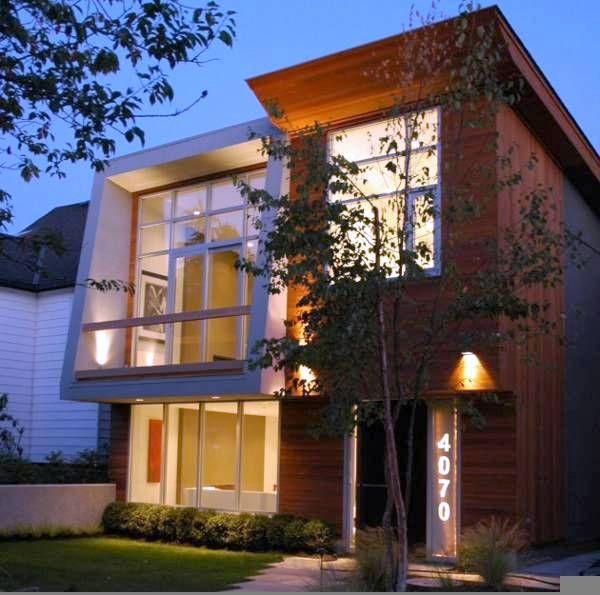 Fachadas de casas modernas peque as de de dos pisos for Casas modernas de dos plantas pequenas