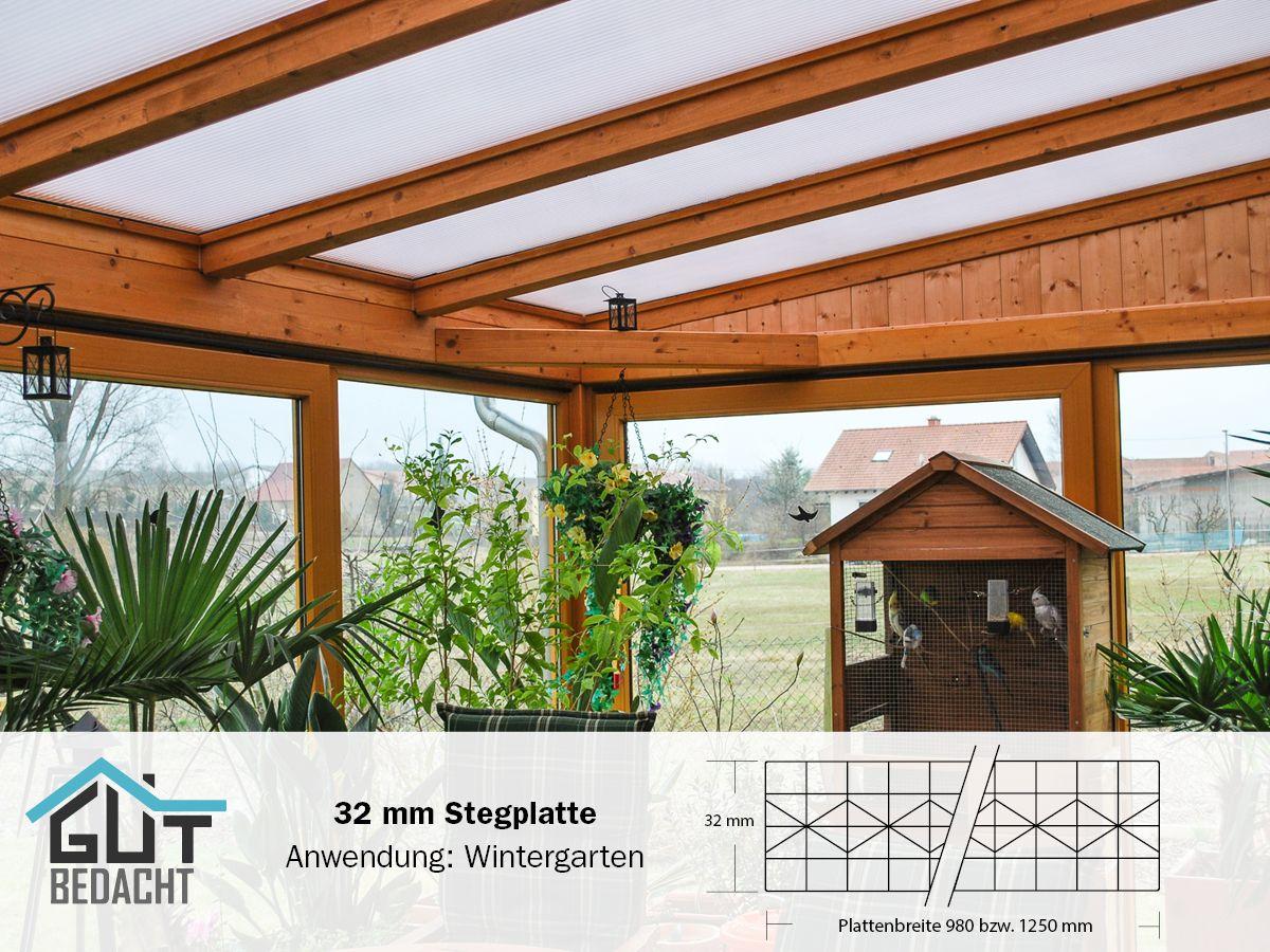Polycarbonat Stegplatte 32 Mm Fur Wintergarten Mit