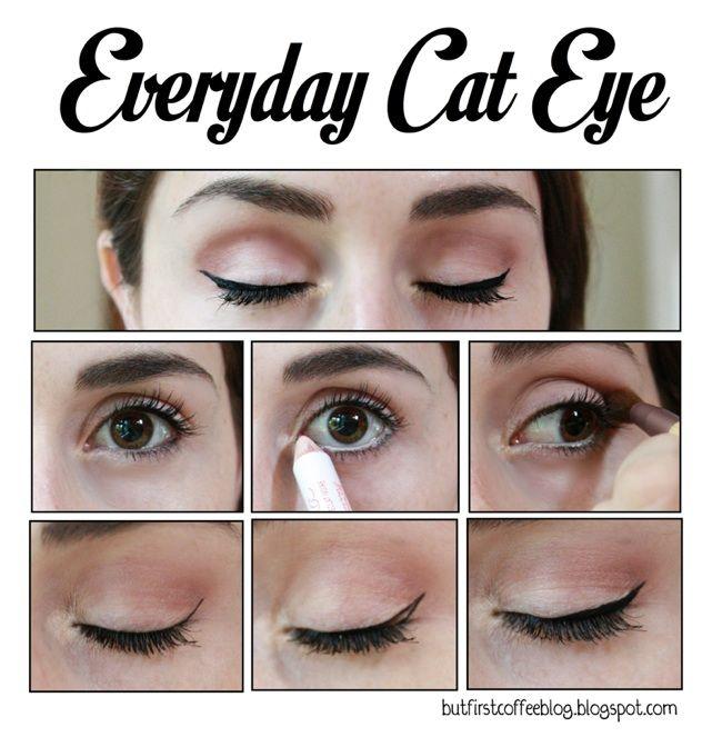Everyday Cat Eye Makeup Tutorial Cat Eye Makeup Makeup For