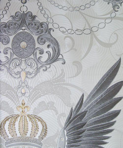Details Zu Vlies Tapete Harald Glööckler Deux 54456 Weiß Silber
