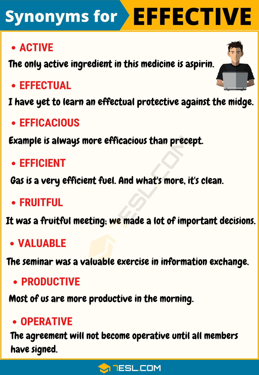 Another Word For Effective 95 Synonyms For Effective With Examples 7esl English Words Learn English English Phrases