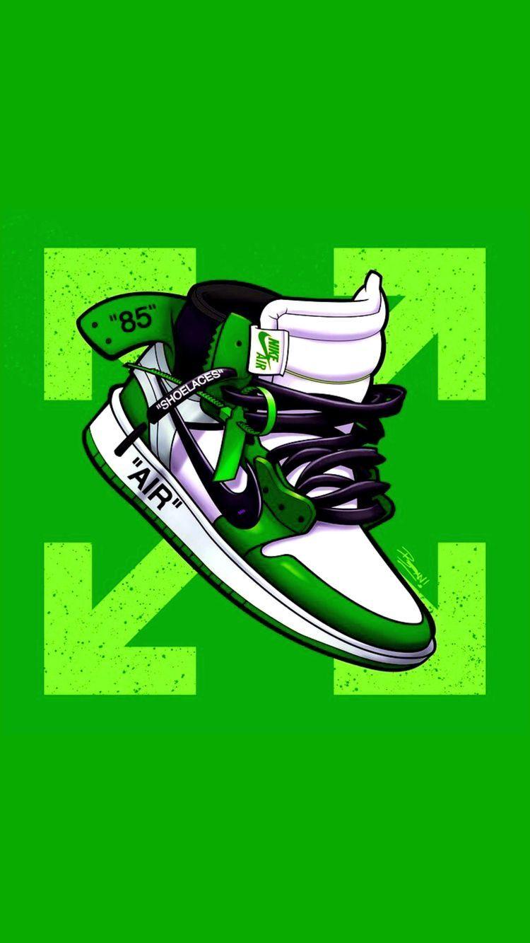 Pin By Nut Mounnalard On Green Heaven Sneakers Wallpaper Nike Art Cool Nike Wallpapers