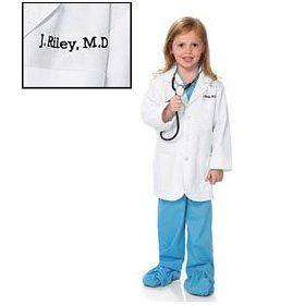 lab coat costume kids can make the neighborhood rounds dressed like real doctors this lab coat can even be doctored up with their name - Kids Doctor Halloween Costume