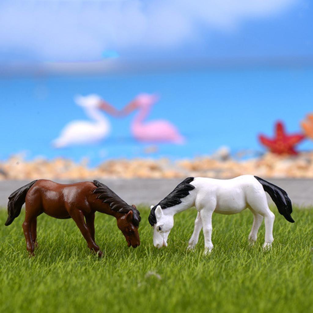 10x Miniature Dollhouse Bonsai Fairy Garden Landscape Horse Decor