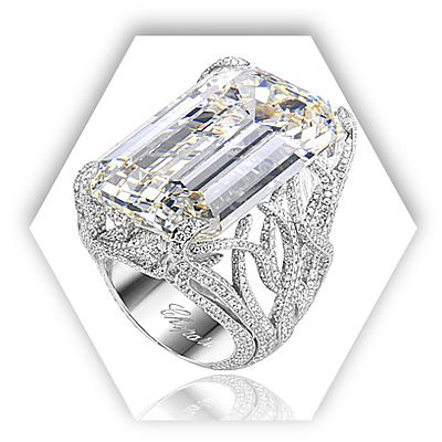 Good Brides: White Gold And Diamond Engagement Ring With Emerald Cut Center  Stone By Chopard : Engagement Rings Gallery