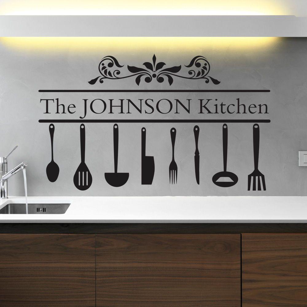 Mum S Kitchen With Utensils Kitchen Wall Decals Wall Art Sticker