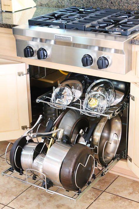 super kitchen organization pots and pans shelves 36 ideas kitchen cabinet storage pan on kitchen organization pots and pans id=28201