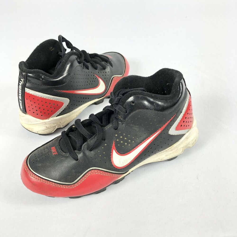 Kids red and black nike baseball cleats 469727016 youth