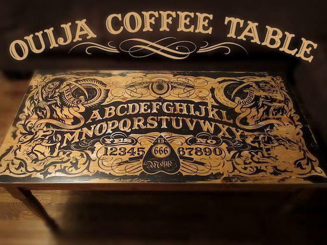 Ouija Board Ouija Board Coffee Table Horror Decor Diy Ouija Board Ouija