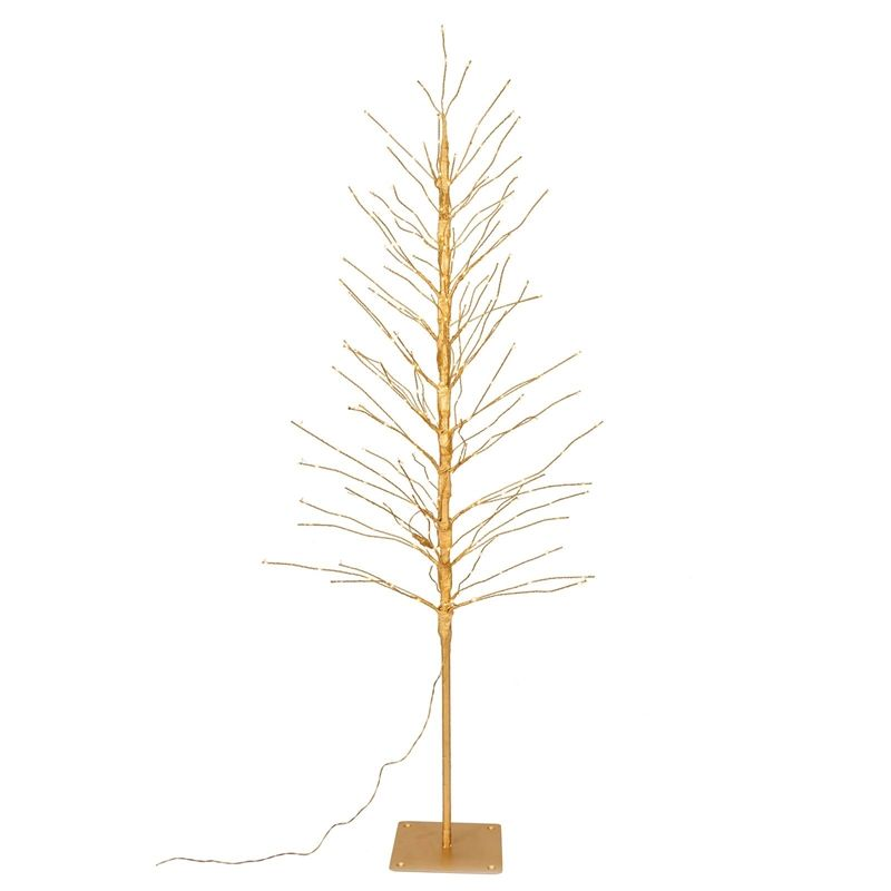 Find 6ft Gold Twig LED Copper Wire Artificial Christmas Tree at ...