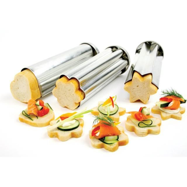 Cook with Pampered Chef baking tubes, which allow you to bake bread and cakes in a tube, then slice them into fun shapes.