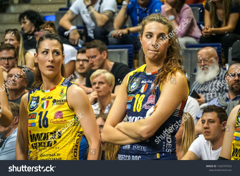 Berlin Germany May 21 2019 Volleyball Players Valentina Tirozzi And Gaia Moretto Part Of The Italian Women S Club Imoco Italian Women Women Photo Editing