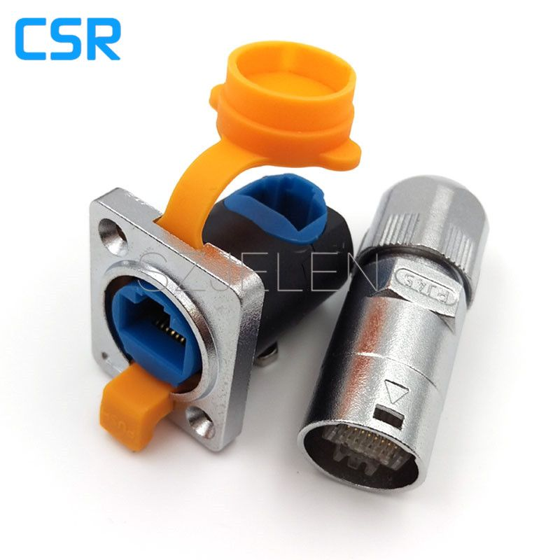 Waterproof And Dustproof Rj45 Connector Male And Female Rj45