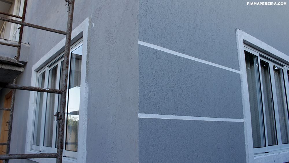 Cores de grafiato para parede externa