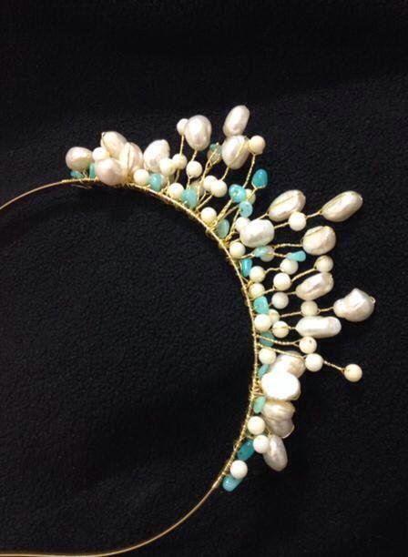 Tiara using pearls and she'll