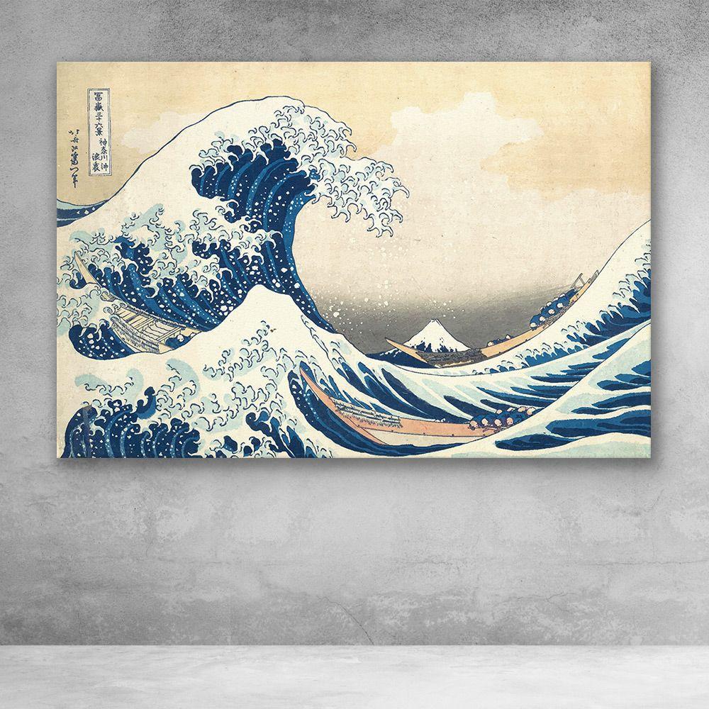 The Great Wave Off Kanagawa By Katsushika Hokusai Japanese Canvas Wall Art Trademark Fine Art Great Wave Off Kanagawa Hokusai Paintings