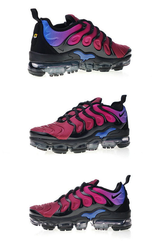 56f438e22be 2019 的 Nike Air Vapormax Plus TN Black Team Red Hyper Violet AO4550 ...