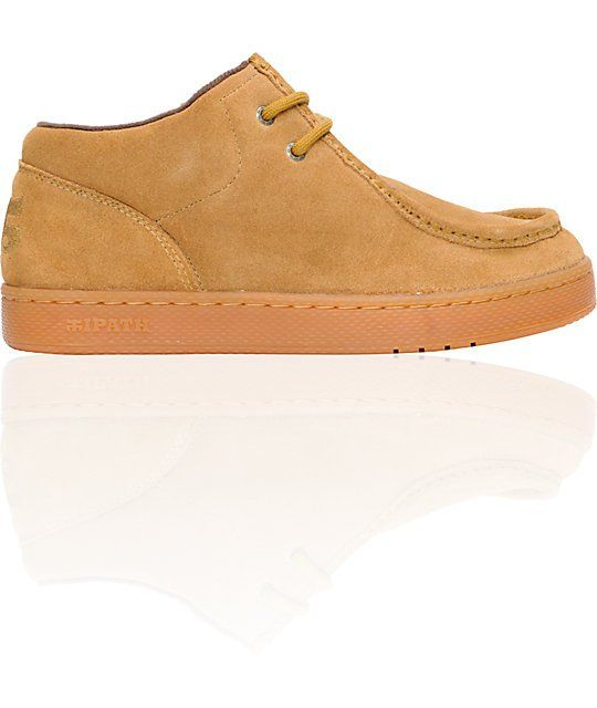 377c0a99eb The tan Ipath Cats shoe. These classic Ipath shoes feature a soft tan suede  upper