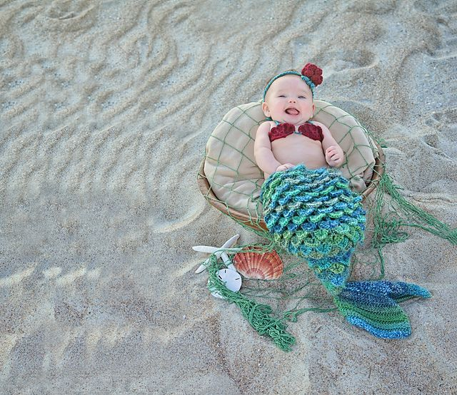 Asombroso Sirena Libre Patrón De Ganchillo Capullo Componente ...