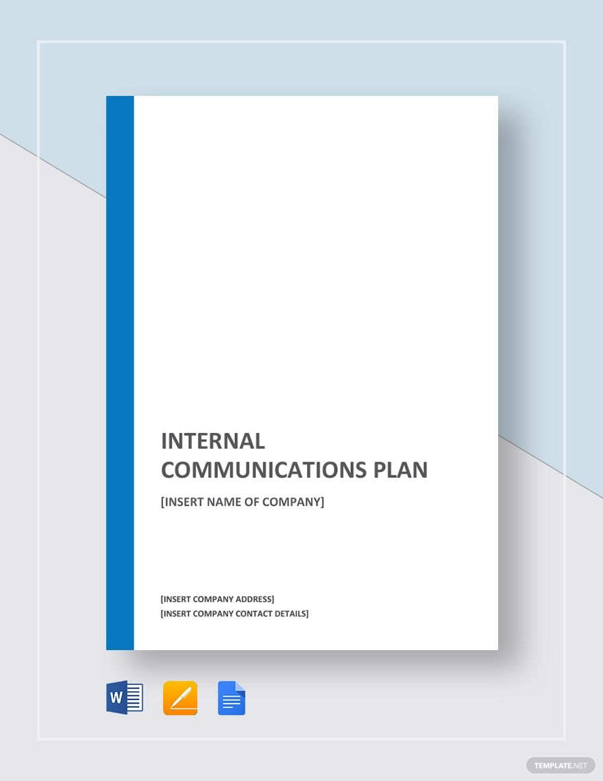 Internal Communications Plan Communication Plan Template