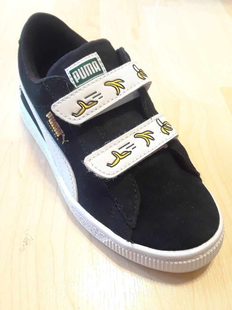 a2e088893bed2 Puma Minions Suede V Preschool Sneakers- Black-white 13C US size ...