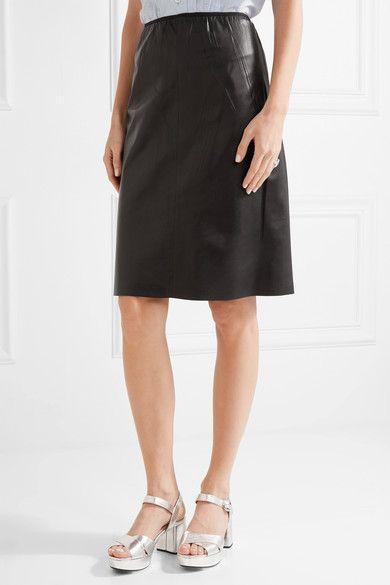 64bdb69111 Prada - Leather Skirt - Black | Products