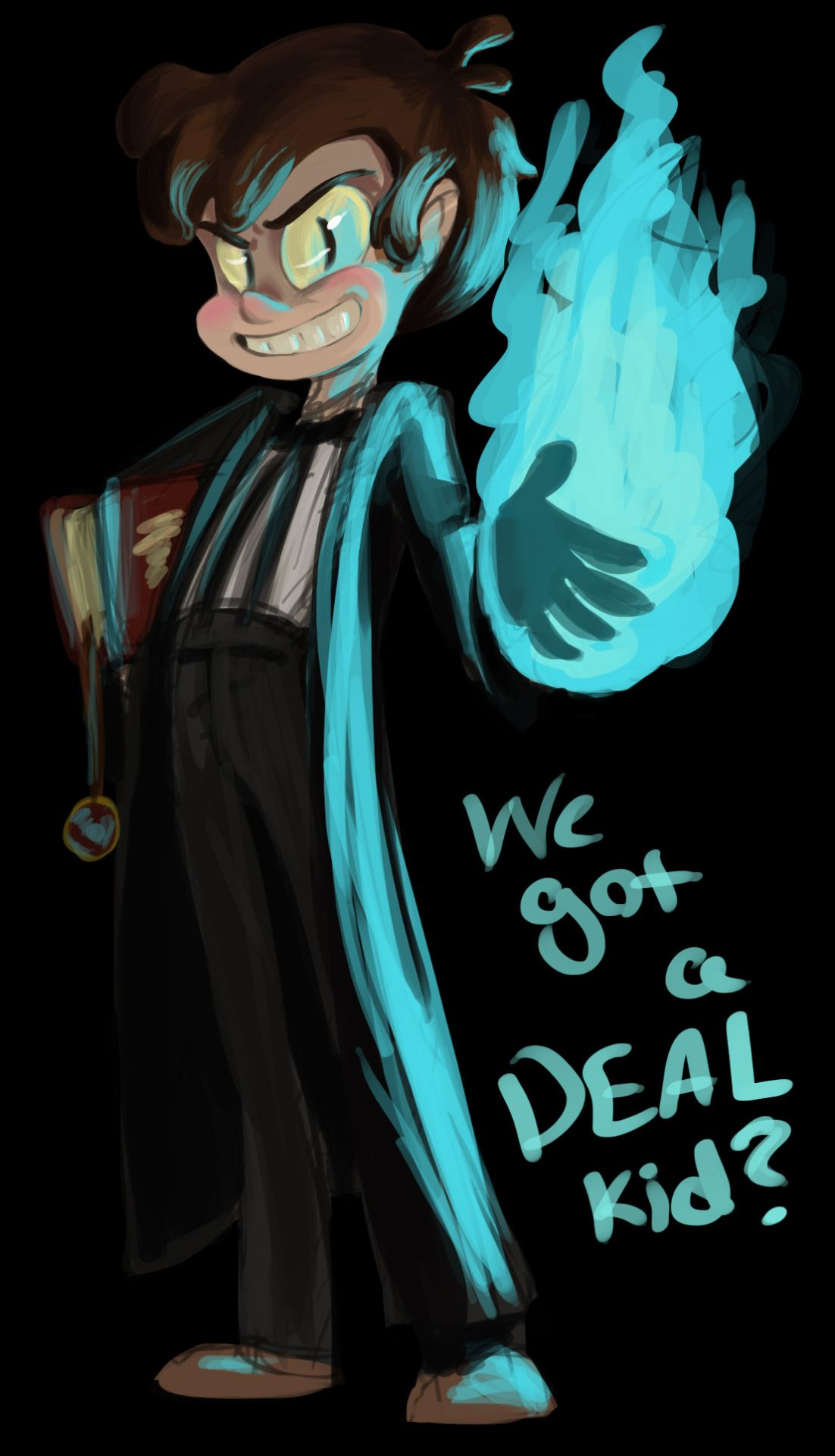 Took a half an hour from homework for a quick paint of one of my favorite villains from a kids show. A priest-costume-wearing, child-possessing demon of insanity and treachery? What could be better?