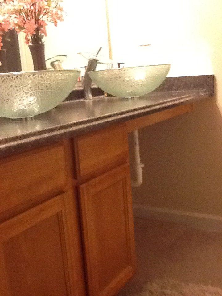 Vessel sink decor help