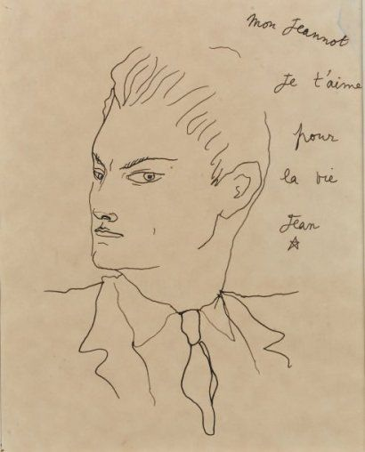 Jean Cocteau 1889 1963 Jean Marais Dessin A La Plume