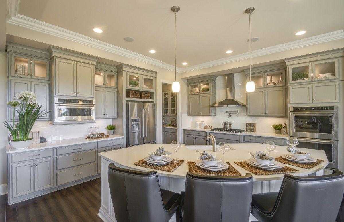 Platinum Kitchen In Harrington White Kitchen Cabinets Kitchen Gourmet Kitchens