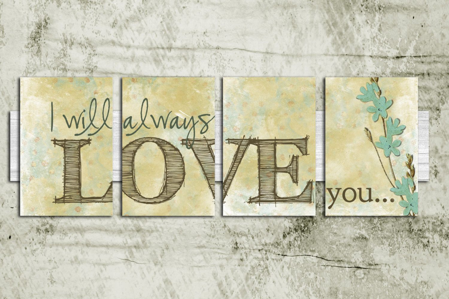 will always LOVE you Wall Art - gift, letter, wedding, birthday, for ...