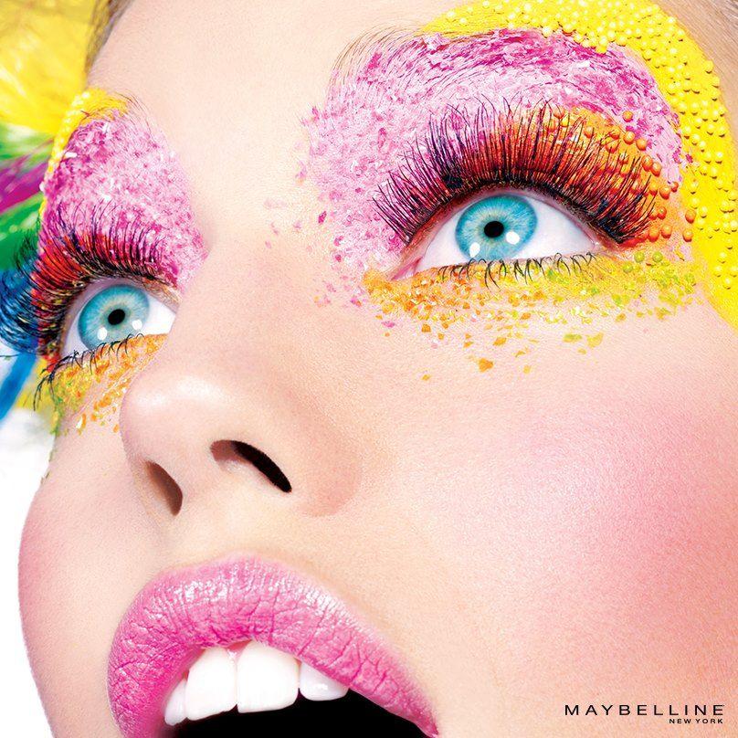 Pin by Amanda Zober on Nails/hair/makeup Colorful makeup
