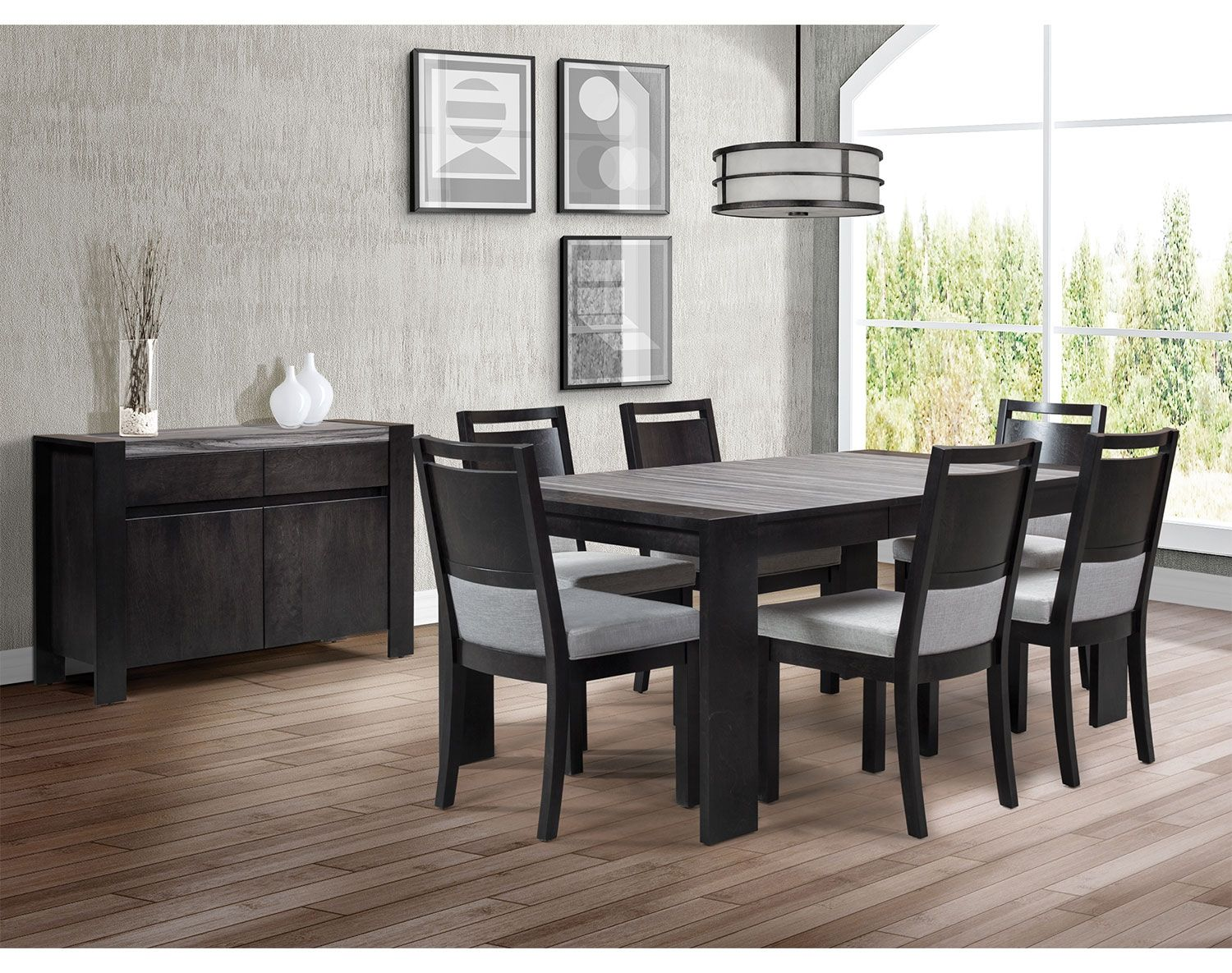 Dining Room Furniture  Khala 7Piece Dining Room Set  Espresso Captivating Espresso Dining Room Sets Decorating Inspiration