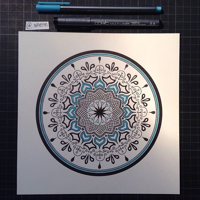 "Mandala Designs, woerm: Daily Mandala #9 ""One well-known type..."