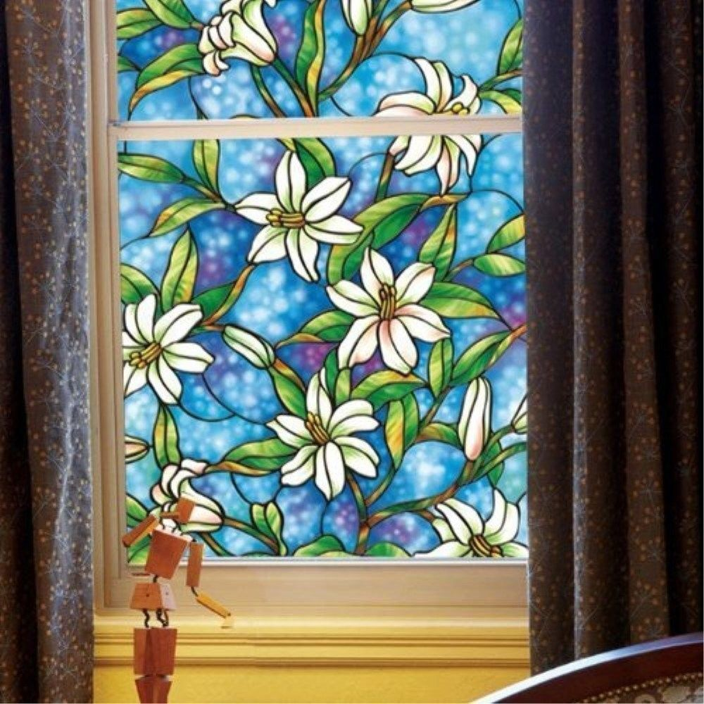 Fancy Fix Decorative Stained Window Film Fenetre Privacy Protection Glass Film For Window Raamfol Stained Glass Window Film Window Decor Decorative Window Film