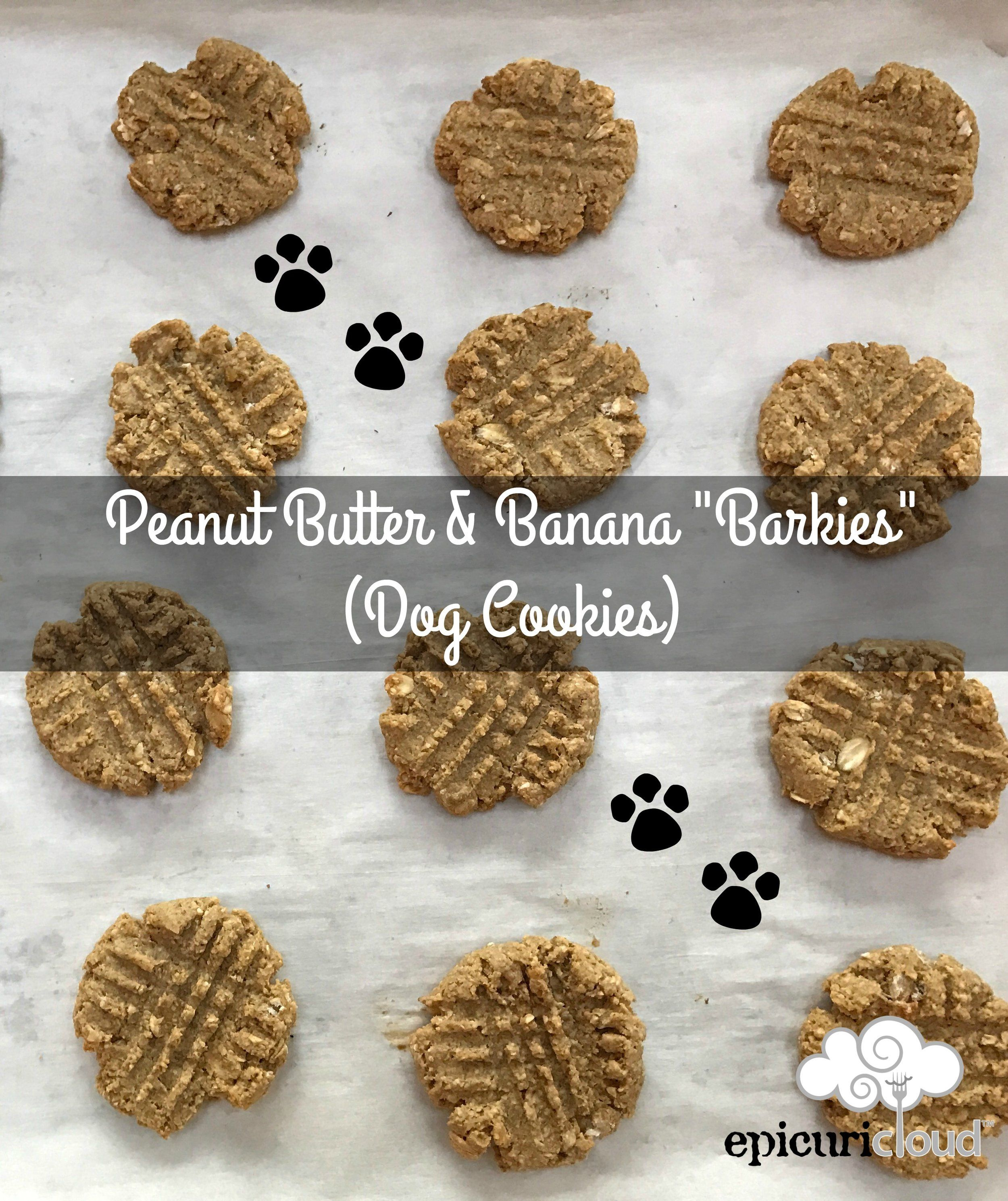 Peanut Butter And Banana Barkies Dog Cookies Recipe Dog