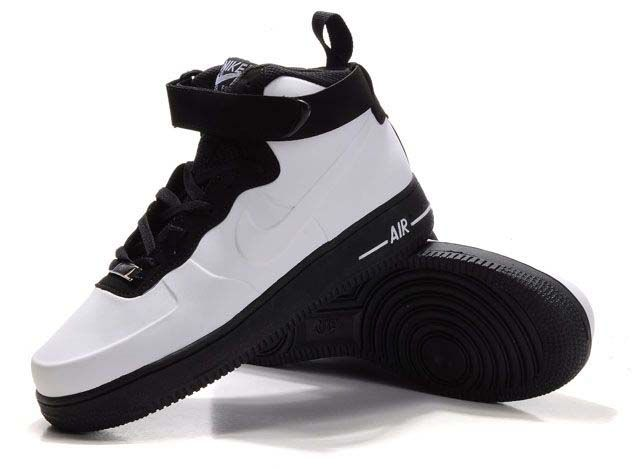 buy popular 1c449 fcb84 black and white foamposites for sale nike air force one high ...