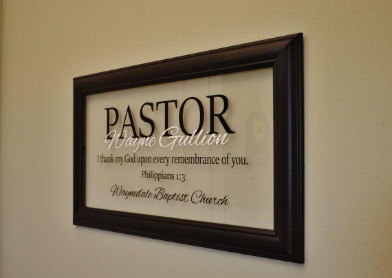 Wedding Officiant Gift Ideas: Pastor Gift Pastor Appreciation Wall Decor Retirement Gift