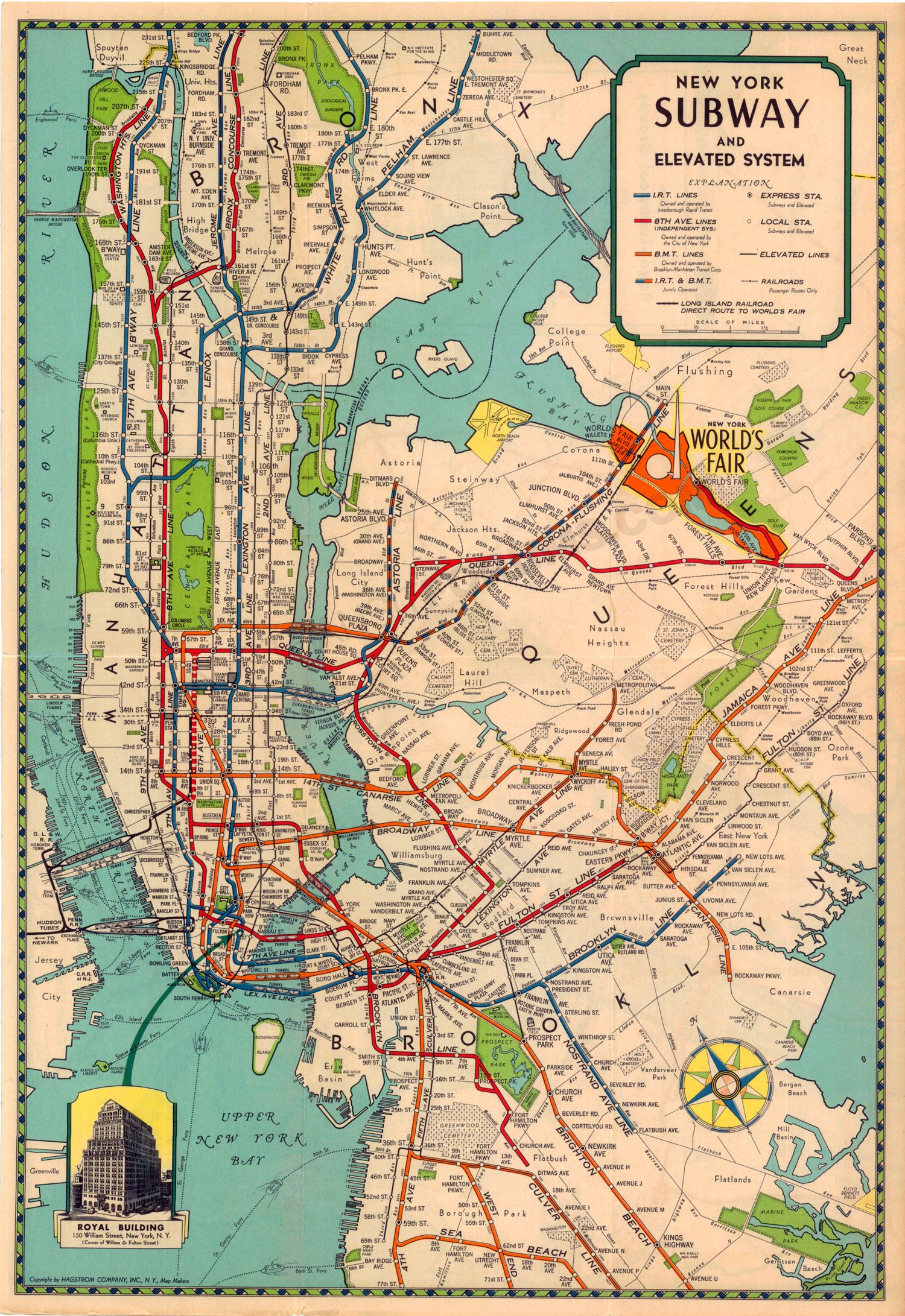 1939-40 Royal-Liverpool Groups New York Worlds Fair Subway and ...