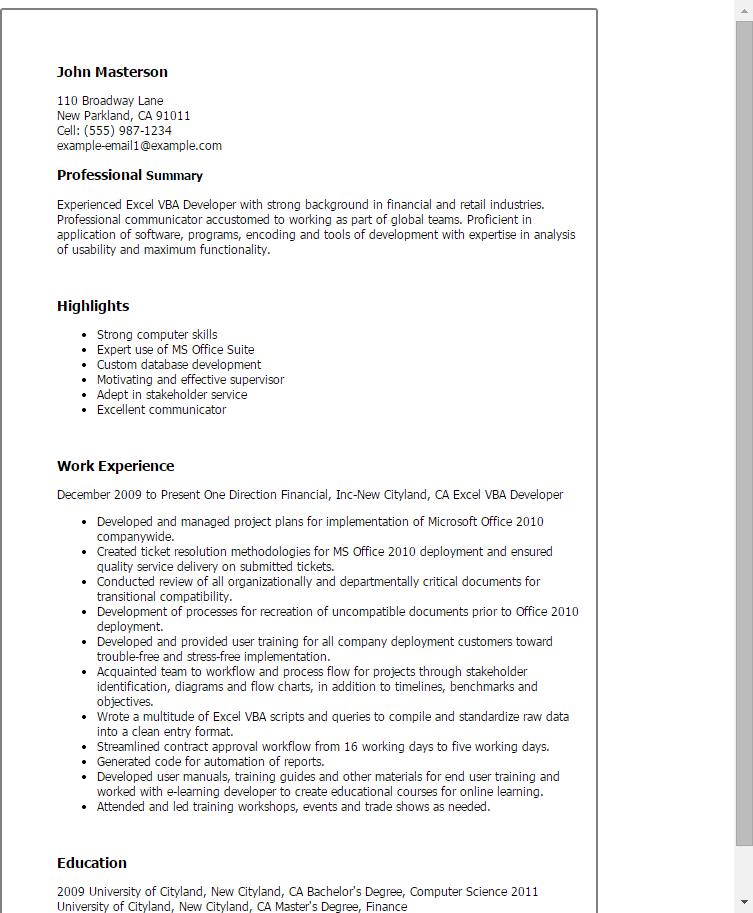 Resume Templates Excel , #ResumeTemplates | Resume Templates ...