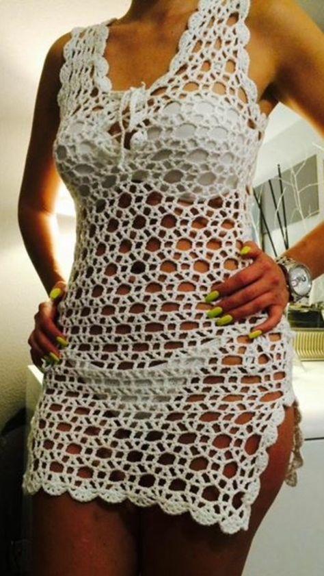 5fdba7b813 Pin de Suely en Roupas de Crochê | Vestidos de ganchillo, Vestido playa  crochet y Croché
